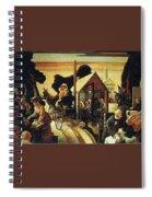 img605 Thomas Hart Benton Spiral Notebook
