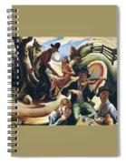 img611 Thomas Hart Benton Spiral Notebook
