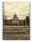 Immaculata University In Black And White Spiral Notebook