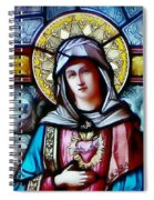 Immaculate Heart Of Mary Spiral Notebook