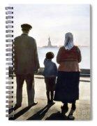 Immigrants: Ellis Island Spiral Notebook
