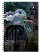 Impatient Painterly Floral Spiral Notebook