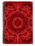 Imperial Red Rose Mandala Spiral Notebook