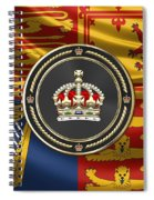 Imperial Tudor Crown Over Royal Standard Of The United Kingdom Spiral Notebook