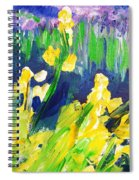 Impression Flowers Spiral Notebook