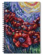 Impressionist Field Poppies Spiral Notebook