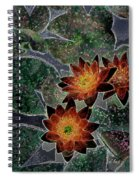 Impressionistic Lilies Spiral Notebook