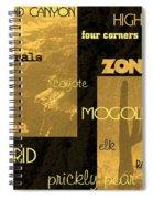 Impressions Of Arizona Se Spiral Notebook