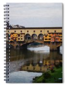 Impressions Of Florence - Ponte Vecchio Autumn Spiral Notebook