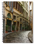 Impressions Of Florence - Walking On The Silver Street In The Rain Spiral Notebook