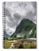 Impressive Weather Conditions At Milford Sound Spiral Notebook