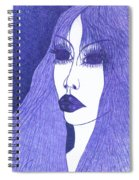 In Blue Colour Spiral Notebook