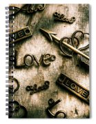 In Contrast Of Love And Light Spiral Notebook