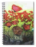 Fields Of Poppies Spiral Notebook