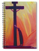 In Our Sufferings We Can Lean On The Cross By Trusting In Christ's Love Spiral Notebook