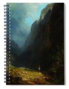 In The Alpine High Valley Spiral Notebook