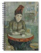 In The Cafe  Agostina Segatori In Le Tambourin Paris January  March 1887 Vincent Van Gogh 1853  Spiral Notebook