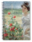 In The Flower Garden, 1899 Spiral Notebook