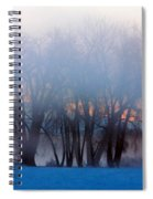 In The Fog At Sunrise Spiral Notebook