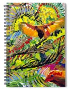 Birds In The Forest Spiral Notebook
