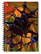 In The Forward Mind Abstract Spiral Notebook