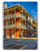 In The French Quarter - 2 Paint Spiral Notebook