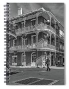 In The French Quarter - 3 Bw Spiral Notebook