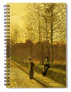 In The Golden Gloaming Spiral Notebook