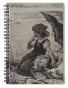 In The Harvest Field, Guardians Of The Luncheon Basket Spiral Notebook