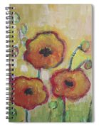 Poppies At Dusk Spiral Notebook