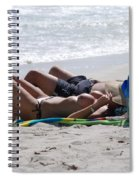 In The Sand At Paradise Beach Spiral Notebook