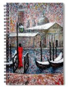 In The Snow In Venice Spiral Notebook