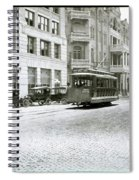 In This 1913 Photo, A Cable Car Drives Past The Littlefield Building And Dristill Hotel On Sixth Str Spiral Notebook