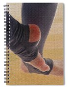 In Warm Up Tights Relaxed Position Spiral Notebook