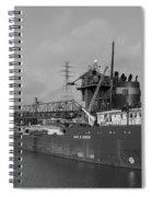 Inbound To Severstal - Black And White Spiral Notebook