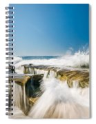 Incoming  La Jolla Rock Formations Spiral Notebook