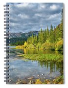 Incoming Storm At Twin Lakes Spiral Notebook
