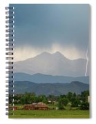 Incoming Storm Panorama View Spiral Notebook