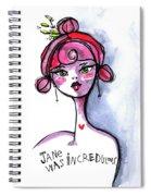 Incredulous Jane Spiral Notebook