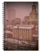 Independence Hall In The Snow Spiral Notebook
