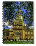 Independence Hall-philadelphia Spiral Notebook