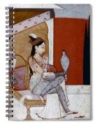 India: Lady & Hawk, C1570 Spiral Notebook