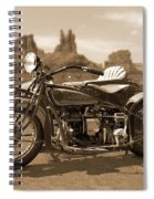 Indian 4 Sidecar Spiral Notebook