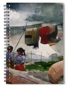 Indian Camp - Roberval P Q Spiral Notebook