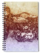 Indian Chief 2 - 1922 - Vintage Motorcycle Poster - Automotive Art Spiral Notebook