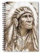 Indian Chief With Headdress Spiral Notebook