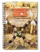 Indian Corn Wreaths Spiral Notebook