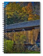 Indian Creek Covered Bridge In Fall Spiral Notebook