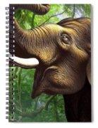 Indian Elephant 1 Spiral Notebook