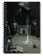 Indian Fire God -the Going Of The Medicine Horse Spiral Notebook